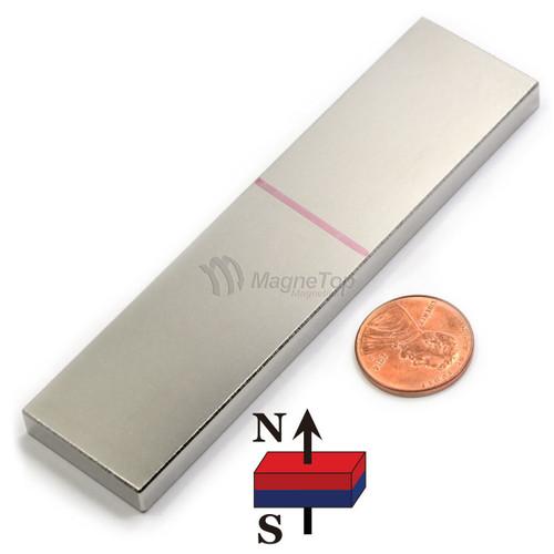 Neodymium Block - 100mm x 25mm x 6mm - N45