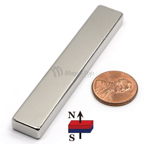 Neodymium Block  -  75mm x 12.5mm x 6mm - N45