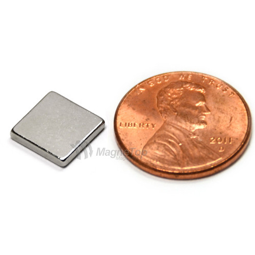 Neodymium Block  -  10mm x 10mm x 1.5mm - N45