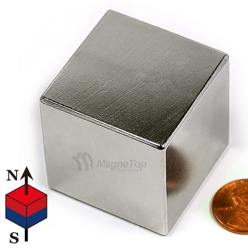 Neodymium Cube  -  38mm x 38mm x 38mm - N42