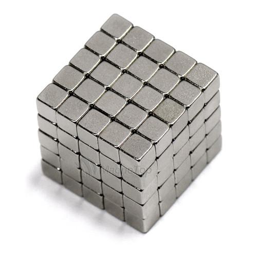 Neodymium Cube  -  3mm x 3mm x 3mm - N45