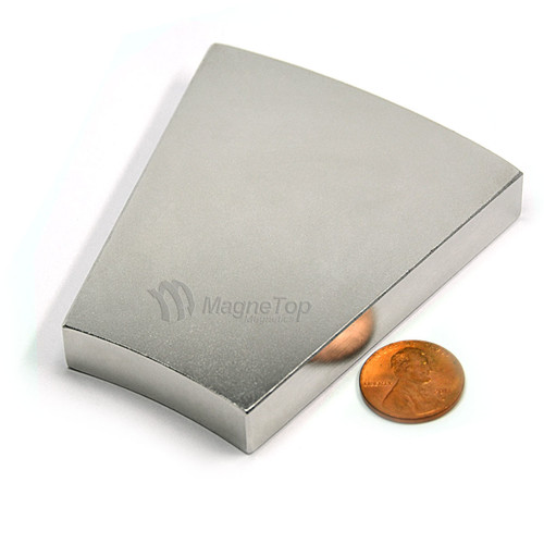 355.6mm (OD) x 203.2mm(ID) x 12.7mm 22.5 Degree -N42 Neodymium Wedge
