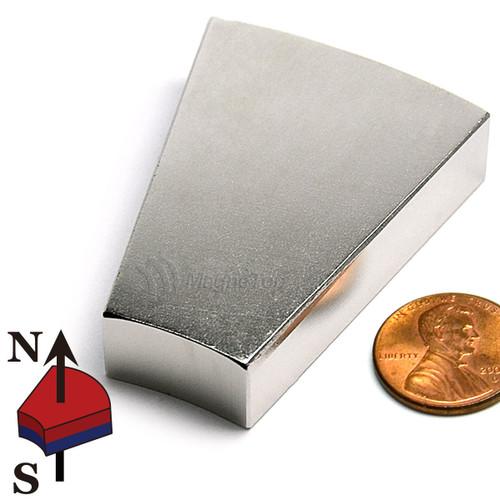 203.2mm (OD) x 101.6mm(ID) x 12.7mm 22.5 Degree -N42 Neodymium Wedge
