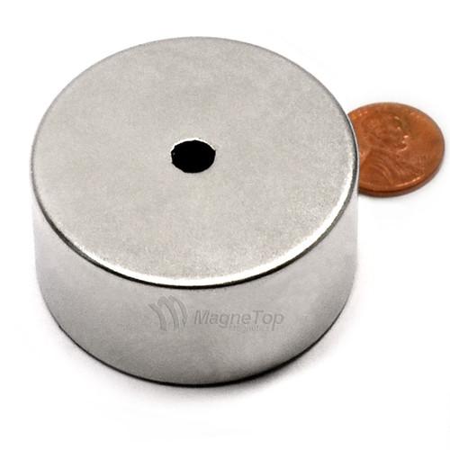 50.8mm (OD) x 6.35mm(ID) x 25.4mm - N52-Neodymium Ring