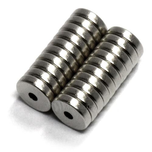 6mm (OD) x 1.5mm(ID) x 1.5mm - N45-Neodymium Ring