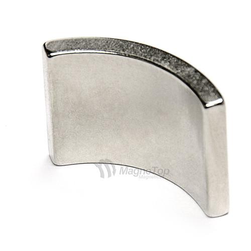 38.1mm (OD) x 31.75mm(ID) x 19mm 90 Degree -N42HT-N Pole Neodymium Arc