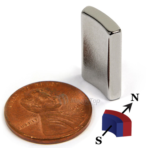38.1mm (OD) x 31.75mm(ID) x 19mm 36 Degree -N42HT-S Pole Neodymium Arc