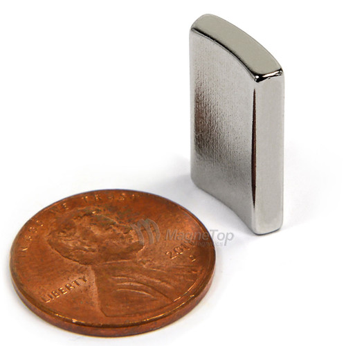 38.1mm (OD) x 31.75mm(ID) x 19mm 36 Degree -N42HT-N Pole Neodymium Arc