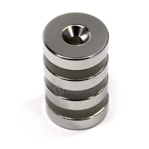 25.4mm x 6.4mm-N42-M5 Countersink on One Side | Neodymium Round Countersunk