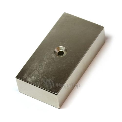 75mm x 40mm x 20mm-N42- 1xM5 Countersink on One Side | Neodymium Block