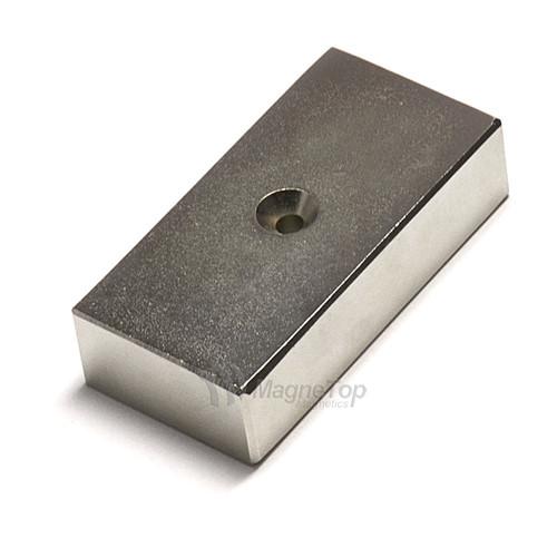 50mm x 25mm x 12.5mm-N42- 1xM3 Countersink on One Side | Neodymium Block