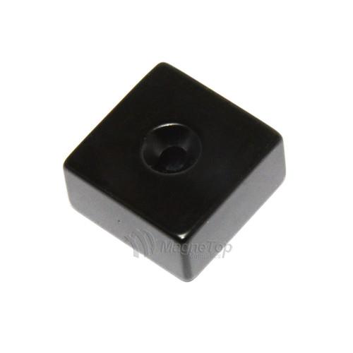 25mm x 25mm x 12.5mm-N42E- 1xM5 Countersink on One Side | Neodymium Block