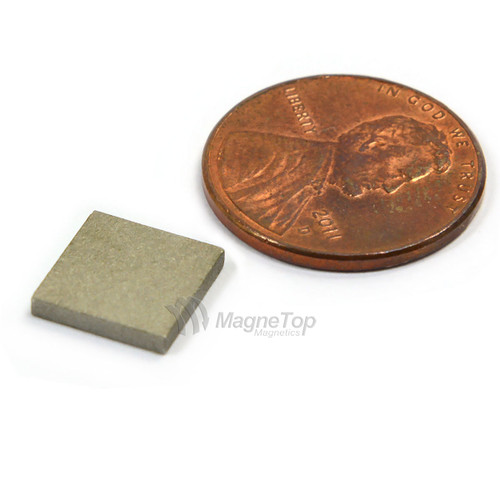 SmCo Block-10mm x 10mm x 1.5mm Samarium Cobalt Sm2Co17-26 320 Celsius