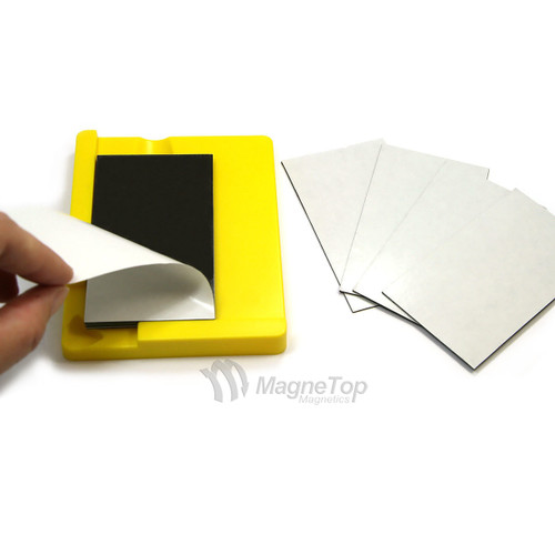 Business Card Magnet Mounting Tool w/ Pack of 10 Magnets
