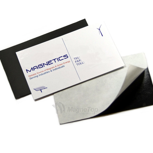 50x Business Card Magnet Flexible with Adhesive 0.5mm Thick