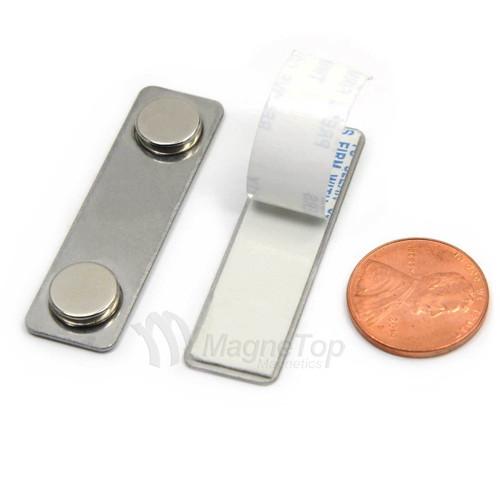 Name Tag Badge Magnet  Set of 10 /w Adhesive 2MG1