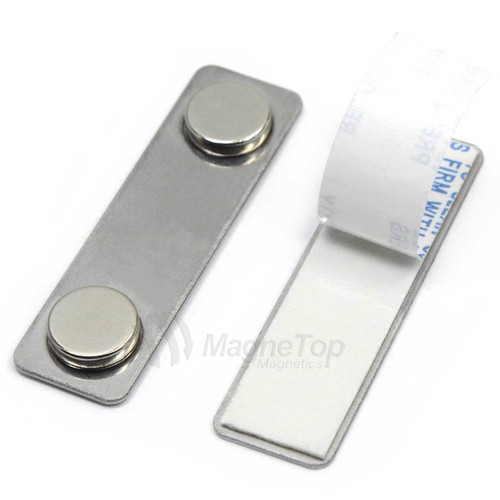 Name Tag Badge Magnet Set of 100 /w Adhesive 2MG1