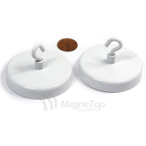 Magnetic Hook 28kg Holding Force Ferrite White or Black Color
