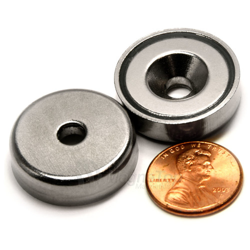 Neodymium Pot 25mm dia. Countersunk 17.5kg Holding Force