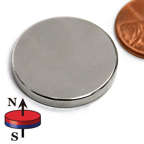 Neodymium Disk - 25.4mm x 3.2mm
