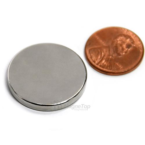Neodymium Disk  -  25.4mm x 3.2mm - N52