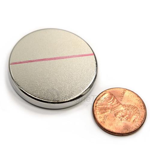 Neodymium Disk  -  35mm x 5mm - N42