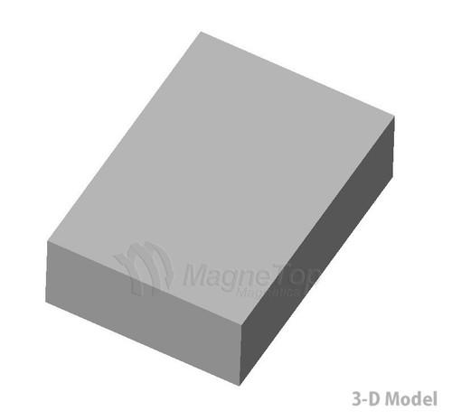 Neodymium Block  -  50mm x 35mm x 15mm - N50 Zinc Coated