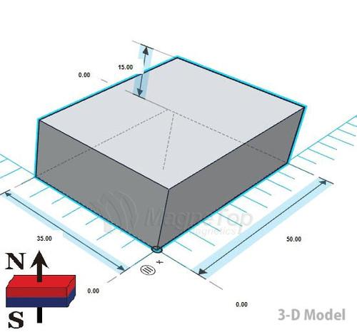 Neodymium Block - 50mm x 35mm x 15mm