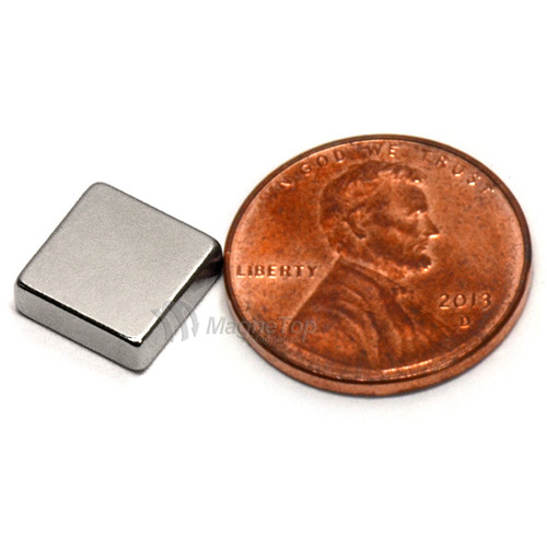 Neodymium Block  -  10mm x 10mm x 3mm - N40