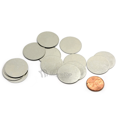 Round Disc Steel Strikers  -  25mm x 1mm 10 Pcs