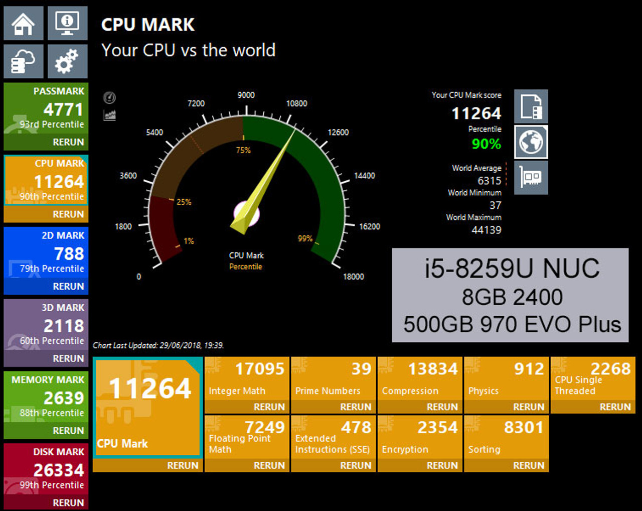 Fanless 8th Gen NUC Core i5 PC, 8GB DDR4, 250GB Samsung 970 EVO Plus SSD,  Thunderbolt 3 [Turing-i5]