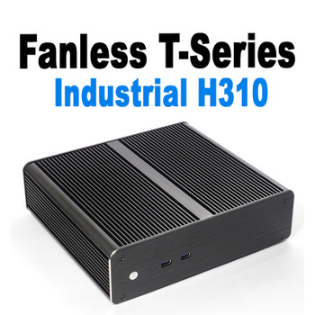 "Fanless T-Series Mini PC, Industrial, 9th Gen, Dual intel LAN, 2x2.5"" Expansion [IMB310TN]"