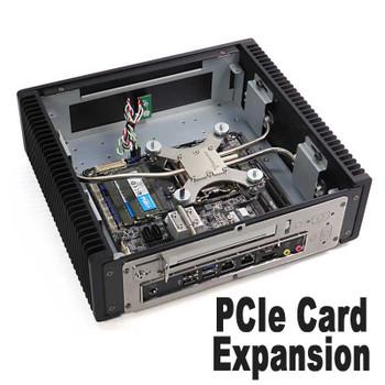 Ultimate Fanless Mini PC, Industrial, 9th Gen up to i7, Dual Intel LAN, Displayport, HDMI 2.0, NVMe SSD,  PCI-e Expansion [IMB370TN]