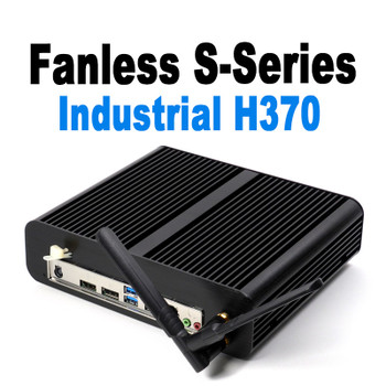 Fanless S-Series Mini PC, Industrial, 9th Gen up to i5, Dual intel LAN, HDMI 2.0, NVMe SSD [IMB370TN]