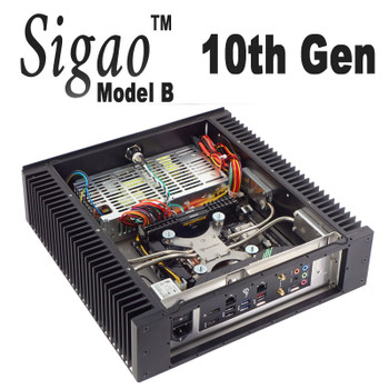 Sigao Model B Fanless PC, 10th Gen 8-Core i7 10700T, up to 64GB, High Performance [H470i]