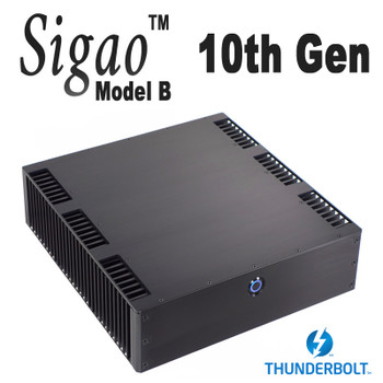 Sigao Model B Fanless PC, 10th Gen 8-Core i7 10700T, up to 64GB, Thunderbolt 3. For Media and Hi-Fi Enthusiasts [Z490i]