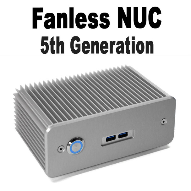 Fanless Intel NUC Core i3 PC, Dual Mini-Displayport, 4GB DDR3, 128GB SSD [D4NU1-i3]