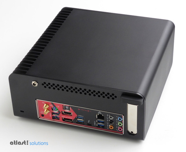 Fanless FC8-Series PC (black) i7 7700T, 8GB, 256GB PCIe SSD, Thunderbolt 3, HDMI 2.0 [ASRock  Fatal1ty Z270]