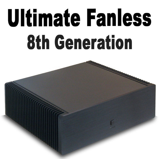 Ultimate Fanless PC, 8th Gen Quad Core i3 8300T, 8GB DDR4, 250GB PCIe NVMe SSD [ASUS H370i]