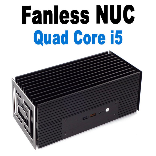 Fanless 8th Gen NUC Core i5 PC, Samsung 970 EVO Plus SSD, Thunderbolt 3, Iris Plus Graphics [Turing-i5]