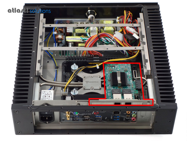 Showing Optional PCIe 1x Expansion Card Installed