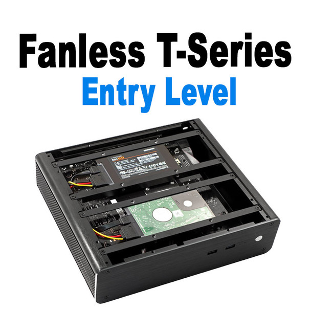 Fanless T-Series Mini PC, Entry Level, 8GB,  256GB Fast NVMe SSD, 2x HDD/SSD Expansion [ASUS H310T]