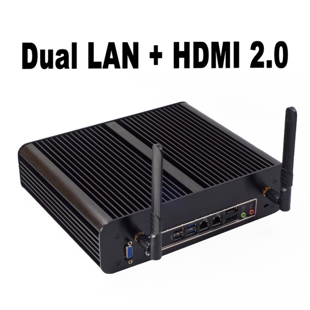 Fanless TX-Series Mini PC, Industrial, 9th Gen up to i7, Dual intel LAN, HDMI 2.0, NVMe SSD [IMB310TN]