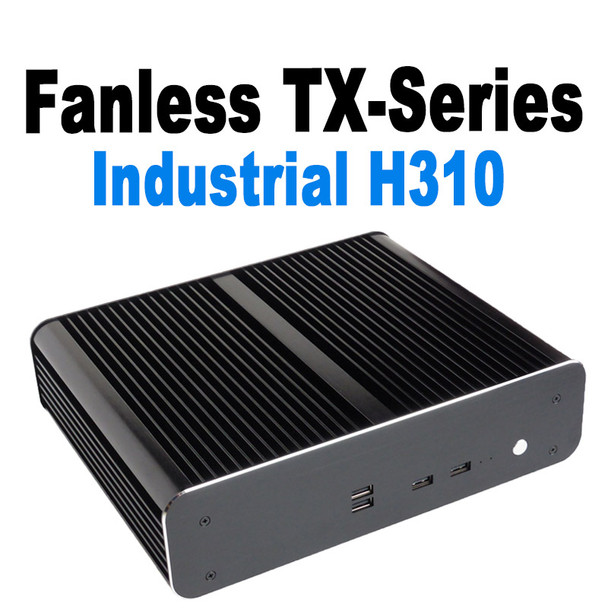 Fanless TX-Series Mini PC, Industrial, 9th Gen up to i7, Dual intel LAN, HDMI 2.0, NVMe SSD [IMB310TN]