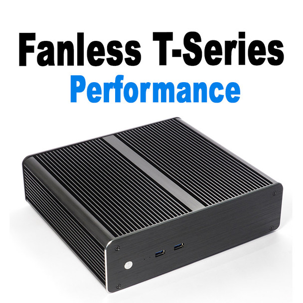 Fanless T-Series 6-Core i5 Mini Server PC, System SSD + 2x SSD/HDD Expansion [ASUS H310T]