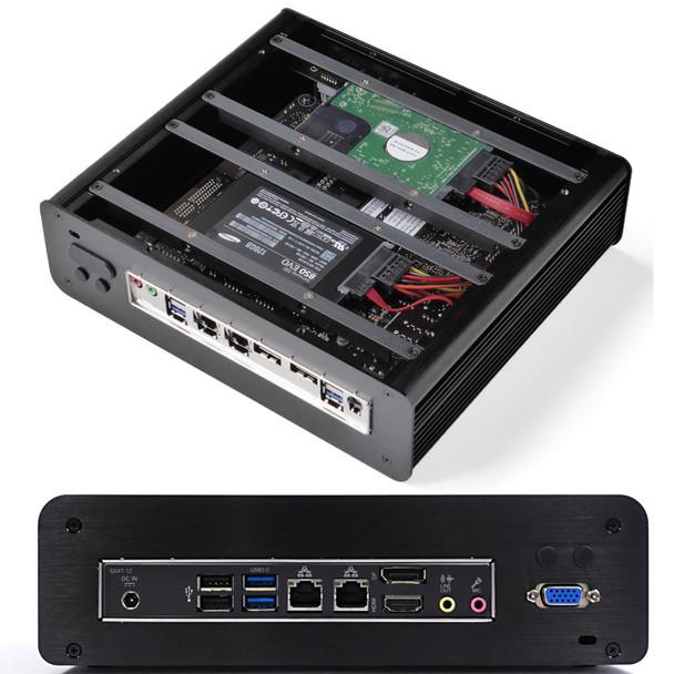 """Fanless T-Series Mini PC, Industrial, 9th Gen, Dual intel LAN, 2x2.5"""" Expansion [IMB310TN]"""