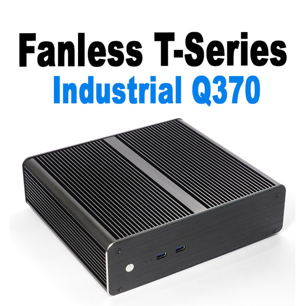"Fanless T-Series Mini PC, Industrial,  9th Gen up to i7, Dual intel LAN, HDMI 2.0, 2x2.5"" Expansion [IMB370TN]"