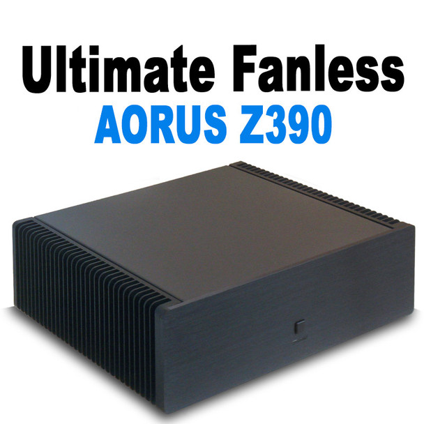 Ultimate Fanless 6-Core i5 Media PC, Up to 64GB DDR4, Displayport, HDMI 2.0, Fast PCIe NVMe SSD [AORUS Z390]