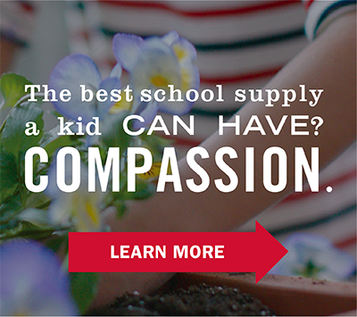 The best school supply a kid can have? Compassion.