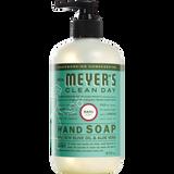 étiquette français savon liquide pour les mains au parfum de basilic mrs meyers - FR
